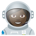 Woman Astronaut: Dark Skin Tone on JoyPixels 4.5