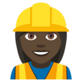 Woman Construction Worker: Dark Skin Tone on EmojiOne 4.5