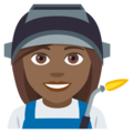 Woman Factory Worker: Medium-Dark Skin Tone on EmojiOne 4.5