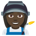 Woman Factory Worker: Dark Skin Tone on JoyPixels 4.5