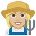 Woman Farmer: Medium-Light Skin Tone on EmojiOne 4.5