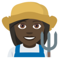 Woman Farmer: Dark Skin Tone on EmojiOne 4.5