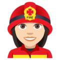 Woman Firefighter: Light Skin Tone on JoyPixels 4.5