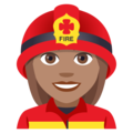 Woman Firefighter: Medium Skin Tone on EmojiOne 4.5