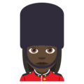 Woman Guard: Dark Skin Tone on EmojiOne 4.5