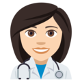 Woman Health Worker: Light Skin Tone on JoyPixels 4.5