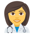 Woman Health Worker on EmojiOne 4.5