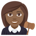 Woman Judge: Medium-Dark Skin Tone on EmojiOne 4.5
