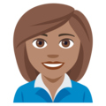 Woman Office Worker: Medium Skin Tone on JoyPixels 4.5