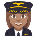 Woman Pilot: Medium Skin Tone on EmojiOne 4.5