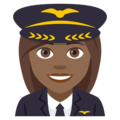 Woman Pilot: Medium-Dark Skin Tone on EmojiOne 4.5
