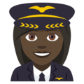 Woman Pilot: Dark Skin Tone on JoyPixels 4.5