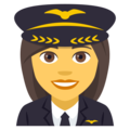 Woman Pilot on JoyPixels 4.5