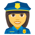 Woman Police Officer on EmojiOne 4.5