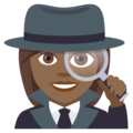 Woman Detective: Medium-Dark Skin Tone on EmojiOne 4.5