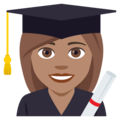 Woman Student: Medium Skin Tone on EmojiOne 4.5