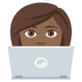 Woman Technologist: Medium-Dark Skin Tone on EmojiOne 4.5