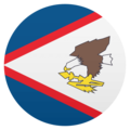Flag: American Samoa on JoyPixels 4.5
