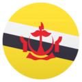 Flag: Brunei on JoyPixels 4.5