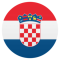 Flag: Croatia on JoyPixels 4.5