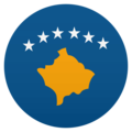 Flag: Kosovo on EmojiOne 4.5