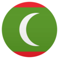 Flag: Maldives on EmojiOne 4.5