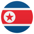 Flag: North Korea on EmojiOne 4.5