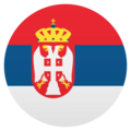 Flag: Serbia on JoyPixels 4.5