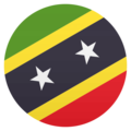 Flag: St. Kitts & Nevis on JoyPixels 4.5