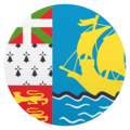 Flag: St. Pierre & Miquelon on EmojiOne 4.5