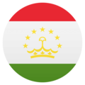 Flag: Tajikistan on JoyPixels 4.5