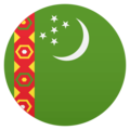 Flag: Turkmenistan on JoyPixels 4.5