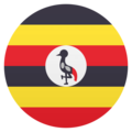 Flag: Uganda on JoyPixels 4.5