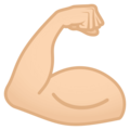Flexed Biceps: Light Skin Tone on JoyPixels 4.5