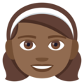 Girl: Medium-Dark Skin Tone on JoyPixels 4.5
