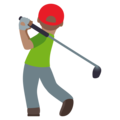 Person Golfing: Medium Skin Tone on EmojiOne 4.5
