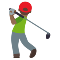 Person Golfing: Medium-Dark Skin Tone on EmojiOne 4.5