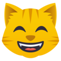 Grinning Cat Face With Smiling Eyes on JoyPixels 4.5