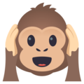 Hear-No-Evil Monkey on EmojiOne 4.5