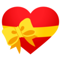 Heart With Ribbon on EmojiOne 4.5
