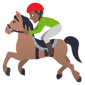 Horse Racing: Medium-Dark Skin Tone on JoyPixels 4.5