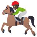 Horse Racing: Dark Skin Tone on EmojiOne 4.5