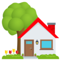 House With Garden on EmojiOne 4.5