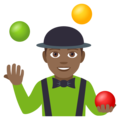 Person Juggling: Medium-Dark Skin Tone on EmojiOne 4.5