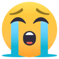 Loudly Crying Face on EmojiOne 4.5