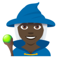 Mage: Dark Skin Tone on EmojiOne 4.5