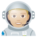 Man Astronaut: Medium-Light Skin Tone on EmojiOne 4.5