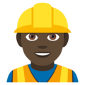 Man Construction Worker: Dark Skin Tone on JoyPixels 4.5