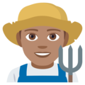 Man Farmer: Medium Skin Tone on JoyPixels 4.5