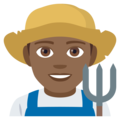 Man Farmer: Medium-Dark Skin Tone on EmojiOne 4.5